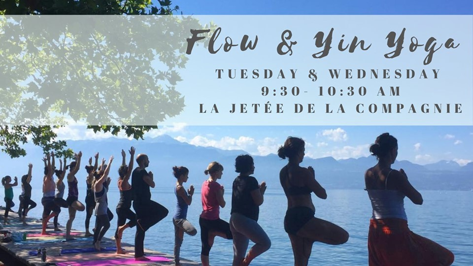 Flow & Yin Yoga Tuesday mornings by the lake avec Ludmila